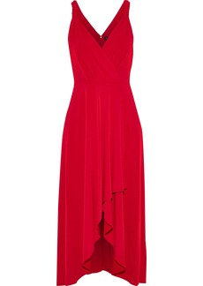 DKNY Donna Karan Woman Wrap-effect Stretch-jersey Midi Dress Red