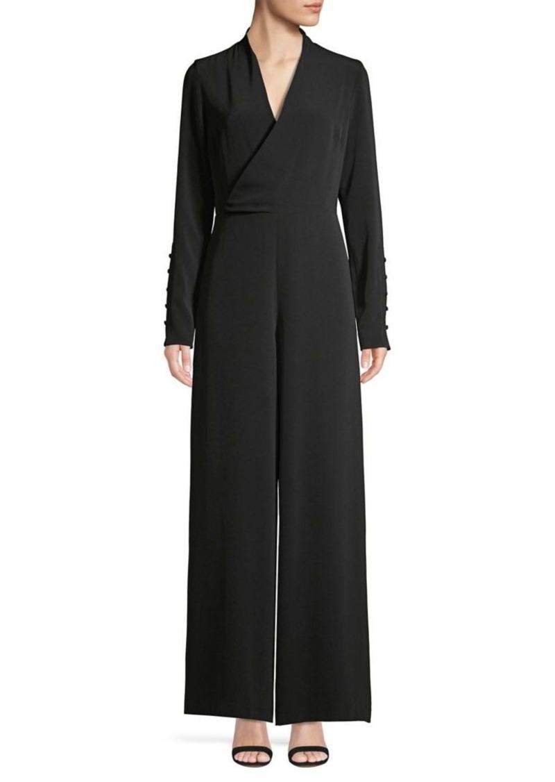DKNY Donna Karan Wrap Wide-Leg Jumpsuit