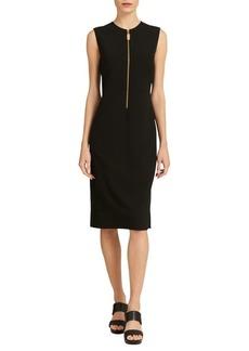 DKNY Donna Karan Zip-Front Sheath Dress