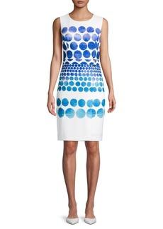 DKNY Dotted Sheath Dress