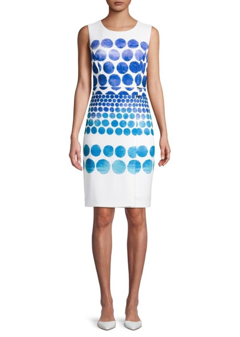 DKNY Dotted Sheath Dress