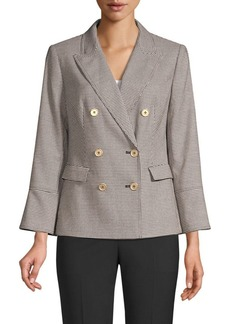 DKNY Double-Breasted Houndstooth Blazer