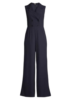 DKNY Double-Breasted Wide-Leg Jumpsuit