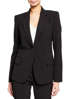 DKNY Double Button Long-Sleeve Blazer