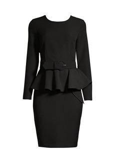 DKNY Double Crepe Peplum Sheath Dress