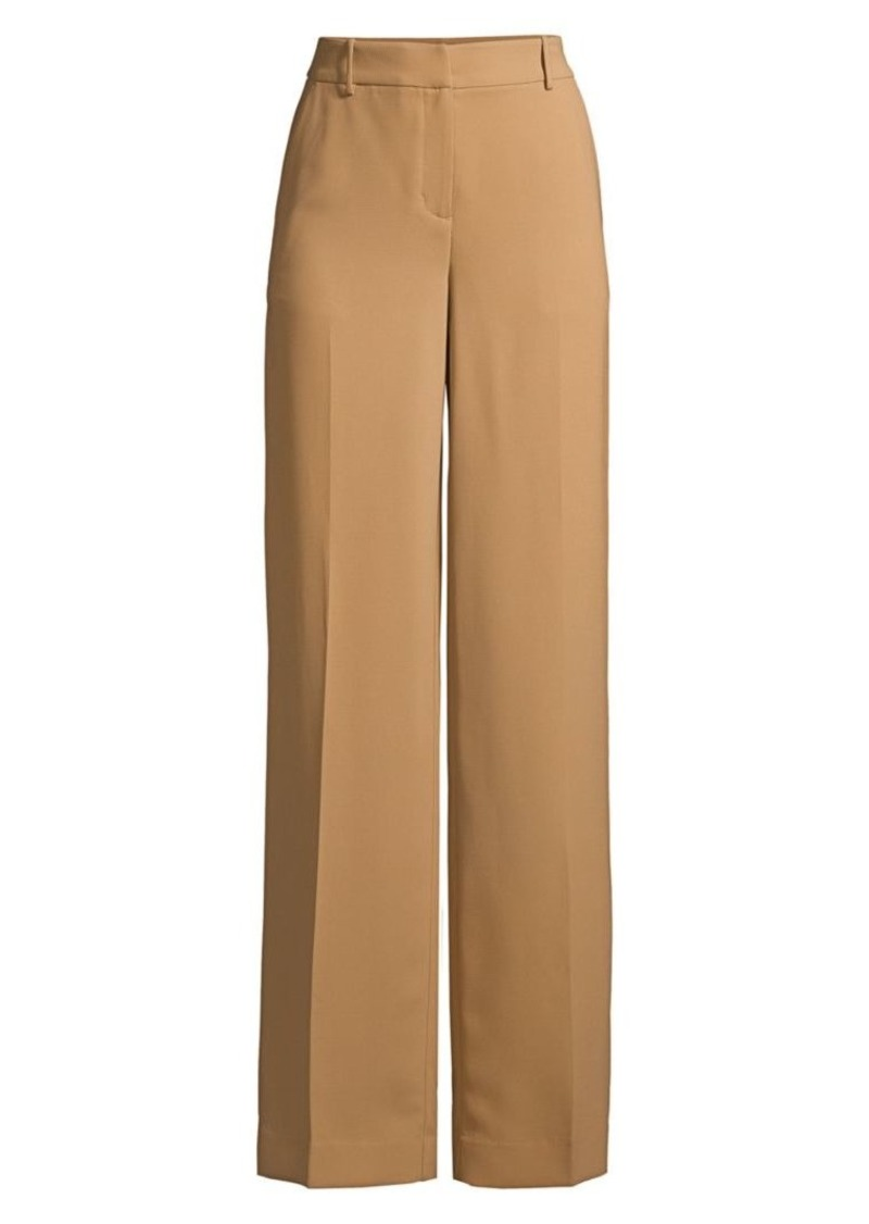DKNY Double Crepe Wide-Leg Pants