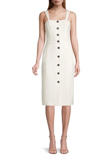 DKNY Double Weave Button-Front Dress