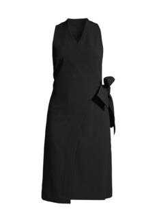 DKNY Double Weave Wrap Dress