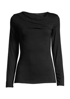 DKNY Draped Long-Sleeve Top