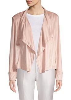 DKNY Draped Open-Front Jacket