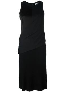 DKNY draped wrap shirt dress