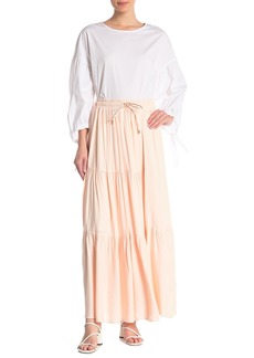 DKNY Drawstring Maxi Skirt