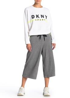 DKNY Drawstring Wide Leg Crop Pants