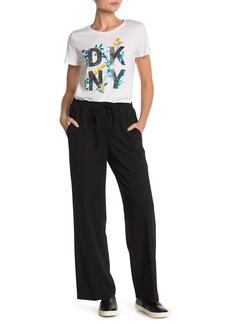 DKNY Drawstring Wide Leg Pants