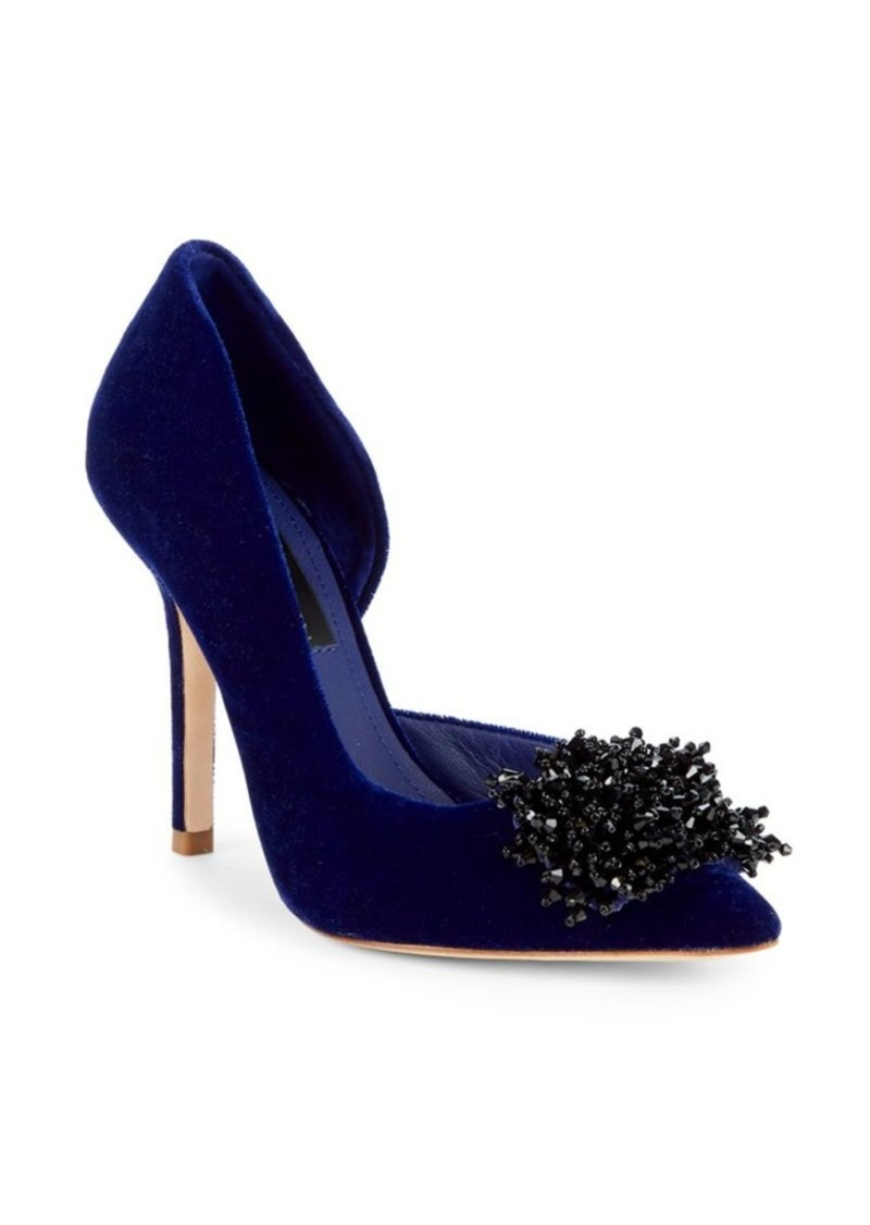 DKNY Dre Beaded Velvet Pumps