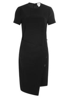 DKNY Dress with Satin and Asymmetric Hemline
