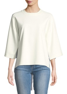 DKNY Elbow-Sleeve Shirt-Hem Sweatshirt