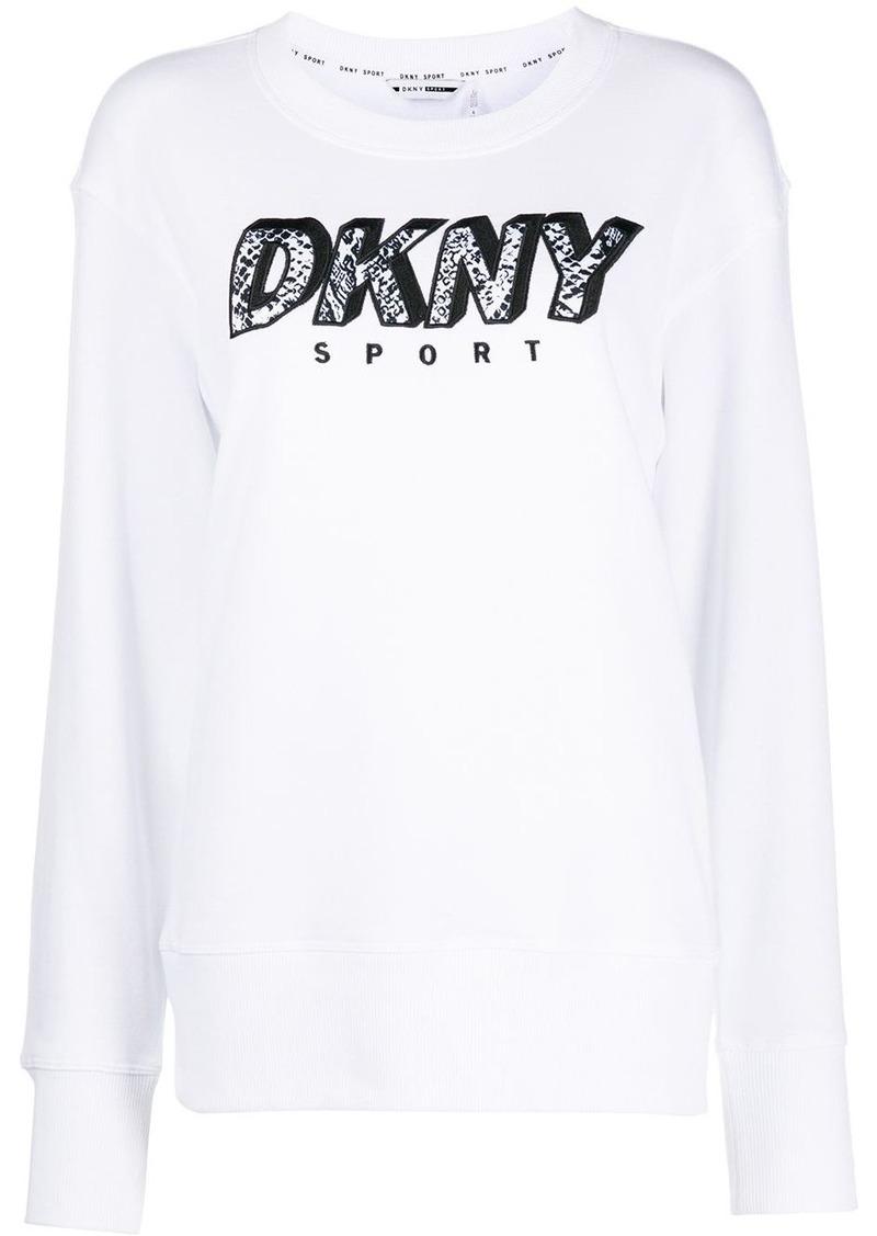 DKNY embroidered logo crew-neck sweatshirt