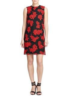 DKNY Embroidered Sheath Dress