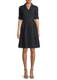 DKNY Eyelet Cotton Dress Shirt