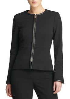 DKNY Fall 18 Ponte Zip Jacket
