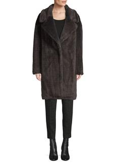 DKNY Faux Fur Teddy Coat