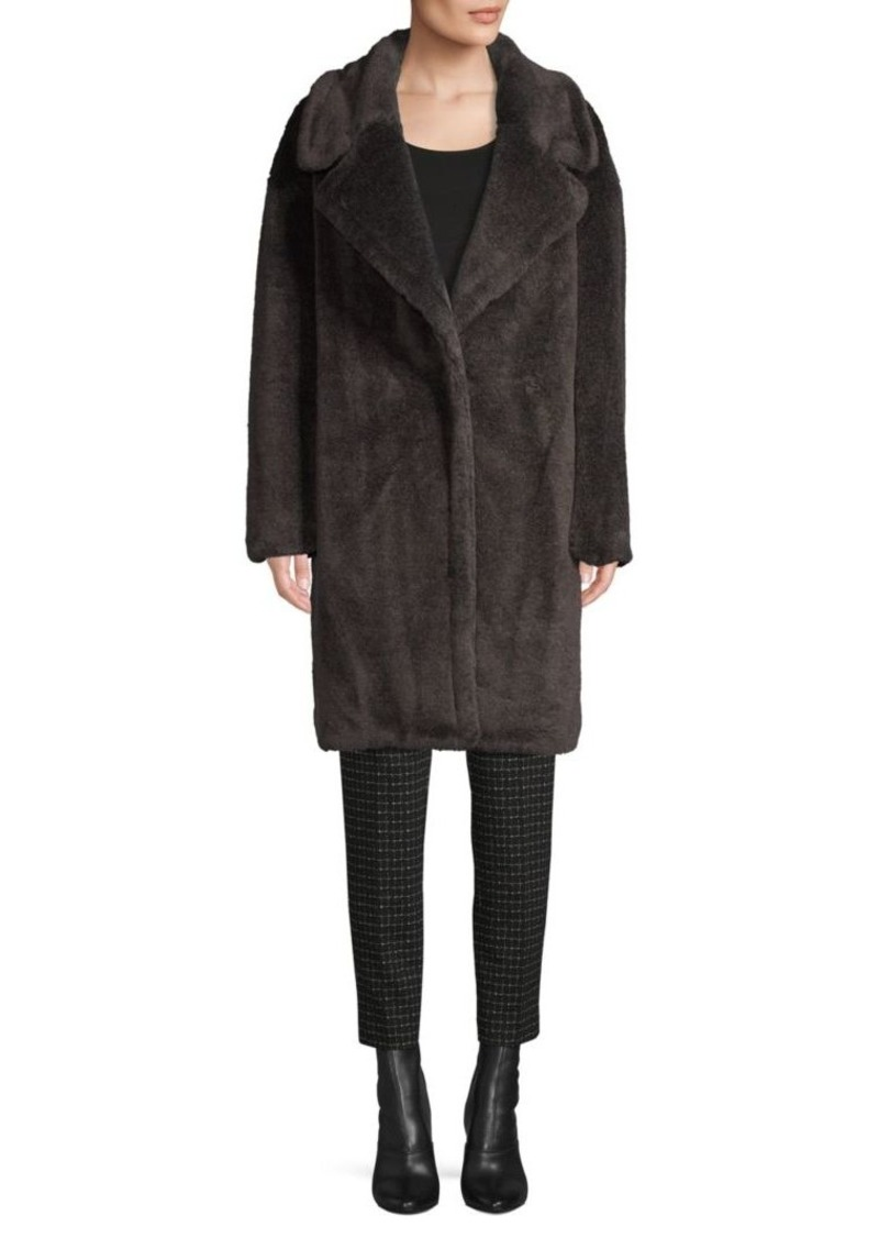 DKNY Faux Fur Teddy Coat