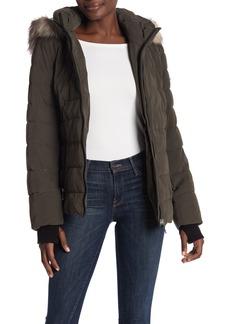 DKNY Faux Fur Trim Down Jacket