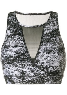 DKNY fitted sports bra top