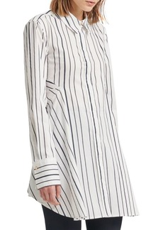 DKNY Flare Striped Button-Down Shirt