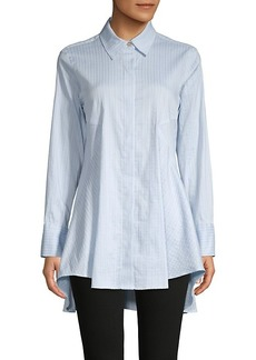 DKNY Flared High-Low Blouse