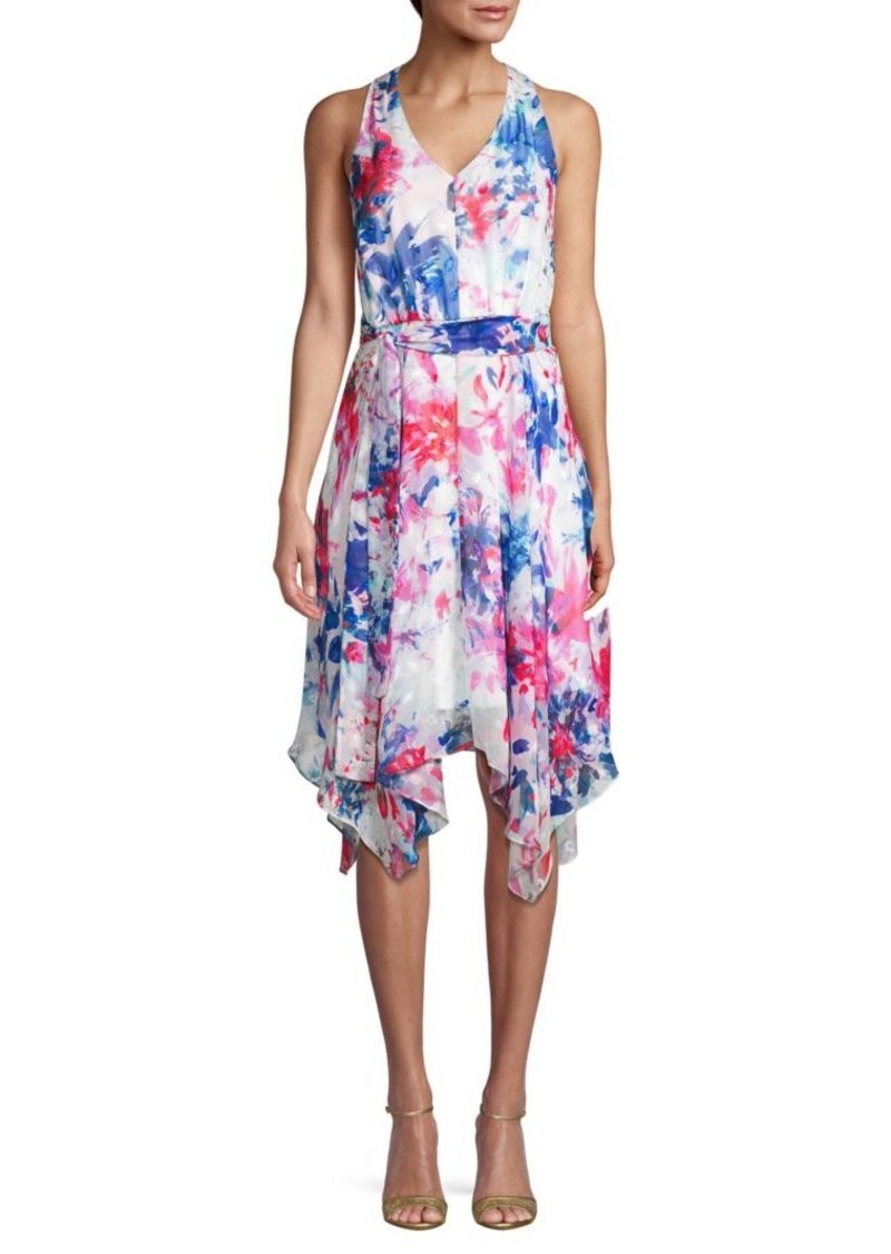 DKNY Floral Handkerchief Dress