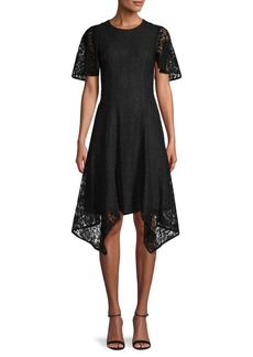 DKNY Floral Lace Fit-&-Flare Dress