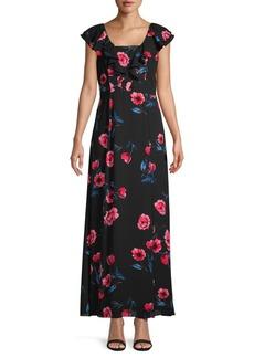 DKNY Floral Maxi Dress