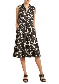 DKNY Floral-Print A-Line Dress