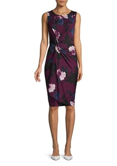 DKNY Floral-Print Sheath Dress