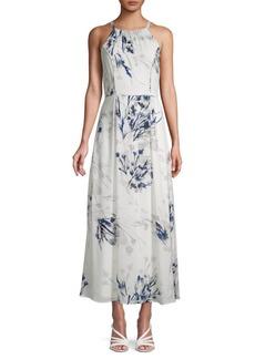 DKNY Floral-Print Sleeveless A-Line Dress