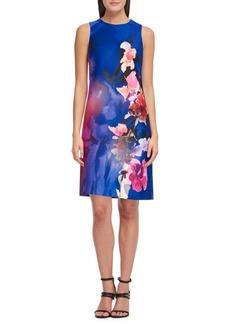 DKNY Floral Sleeveless Sheath Dress