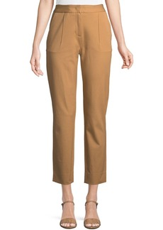 DKNY Front-Dart Twill Ankle Pants