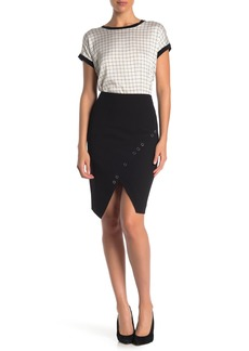 DKNY Front Grommet Mini Skirt