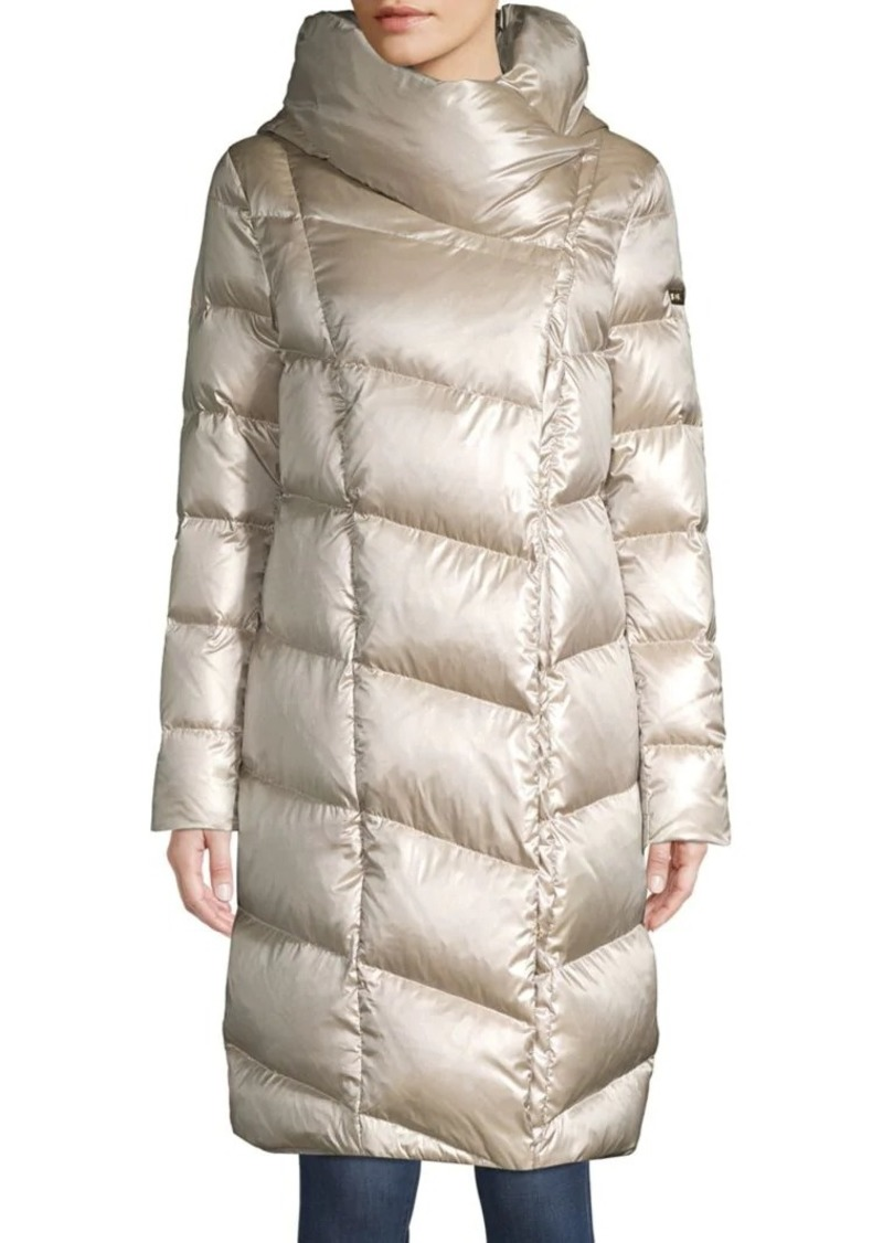 DKNY Funnel-Neck Down Coat