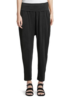 DKNY Gathered-Waist Cropped Jodhpur Pants