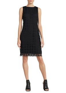 DKNY Geometric-Lace Sheath Dress