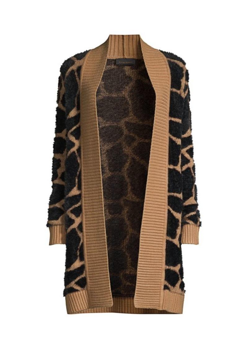 DKNY Giraffe Jacquard Open-Front Cardigan