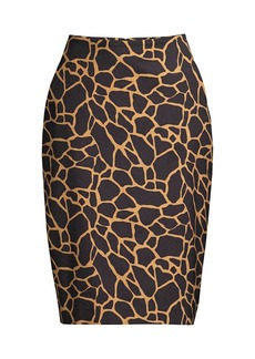 DKNY Giraffe-Print Pencil Skirt