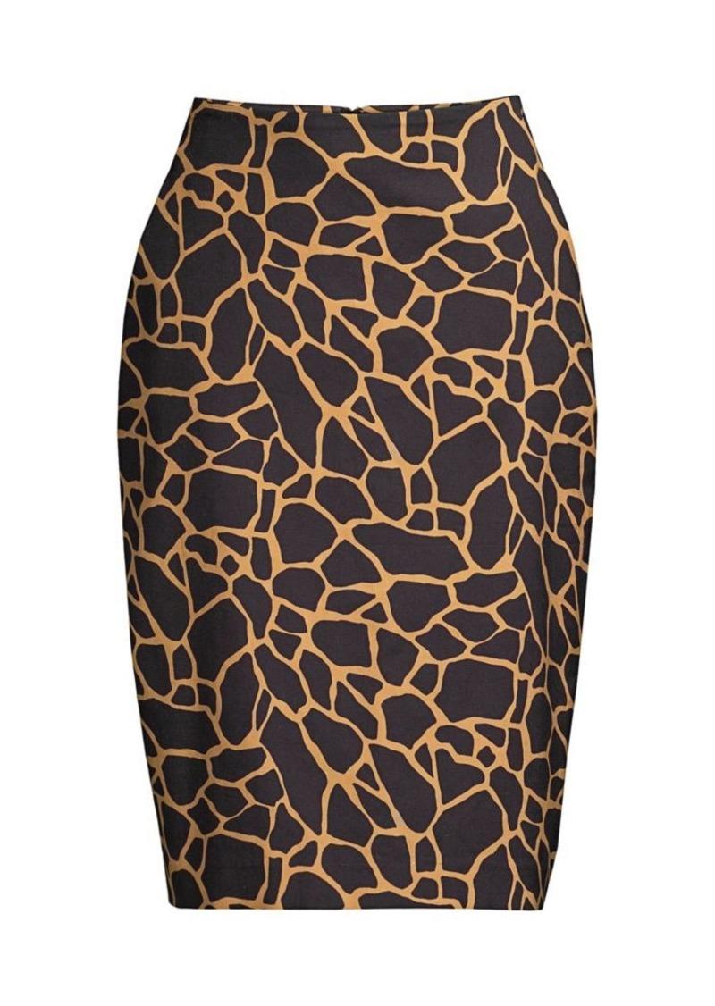 DKNY Giraffe-Print Pencil Skirt