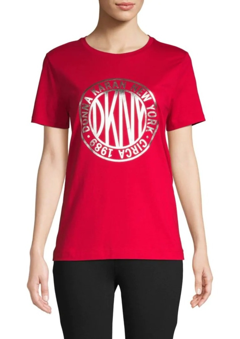 DKNY Graphic Cotton-Blend Tee