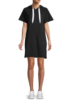 DKNY Graphic Logo Hooded Dress