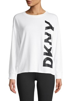DKNY Graphic Stretch-Cotton Top