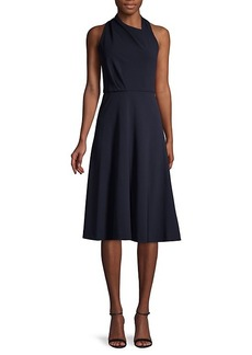 DKNY Halter Fit-&-Flare Dress